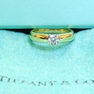 Tiffany & Co Etoile 18k Solitaire Diamond Ring